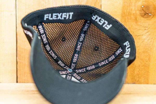 All Black Neon Mesh Curved Flexfit - Inside