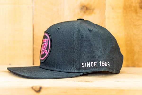 All Black Neon Solid Flat Snap - Side