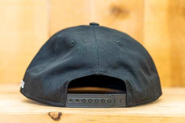 All Black Neon Solid Flat Snap - Back