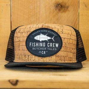 Black Cork Fishing Mesh Snap - Front