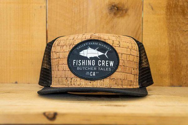 Black Cork Fishing Mesh Snap - Front