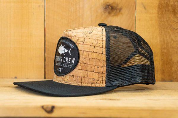 Black Cork Fishing Mesh Snap - Side