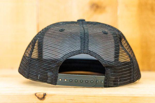 Black Cork Fishing Mesh Snap - Back
