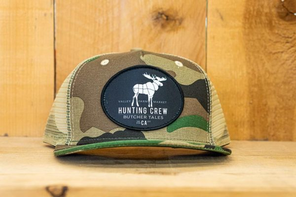 Camo Hunting White Logo Snap - Front