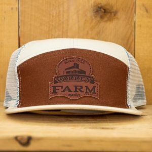 Cream & Brown Mono Logo Snap - Front