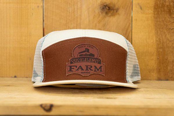 Cream & Brown Mono Logo Snap - Front