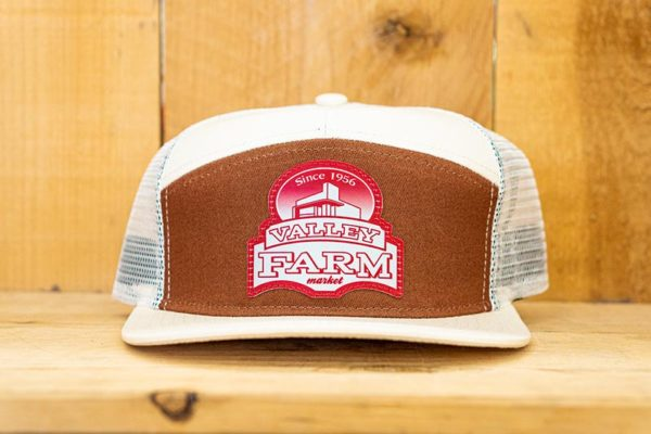 Cream & Brown Red Logo Snap - Front