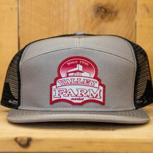 Grey & Black Red Logo Snap - Front