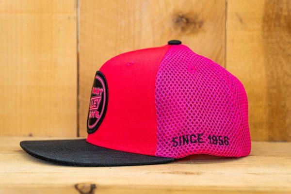 Pink & Black Neon Mesh Flex - Side