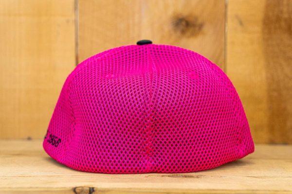 Pink & Black Neon Mesh Flex - Back