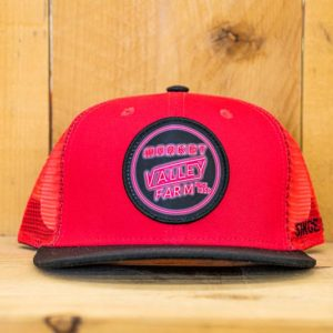 Pink & Black Neon Mesh Snap - Front