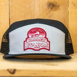 White & Black Red Logo Snap - Front