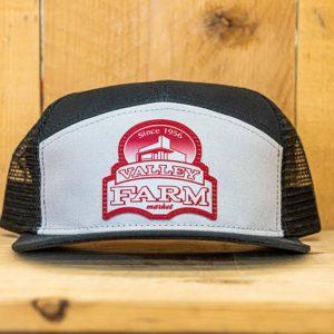 White & Black Red Logo Snap - Front